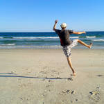 Me doing silly jumps at Surf City, NC