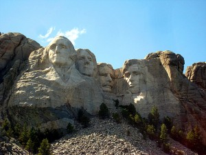 Washington, Jefferson, Roosevelt, Lincoln